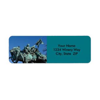 Civil War Soldier Statue in Washington DC_ Return Address Label