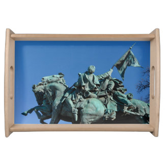 Civil War Soldier Statue in Washington DC_ Serving Tray