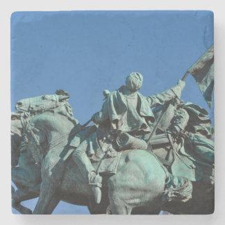 Civil War Soldier Statue in Washington DC_ Stone Beverage Coaster