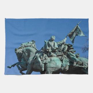Civil War Soldier Statue in Washington DC_ Tea Towel