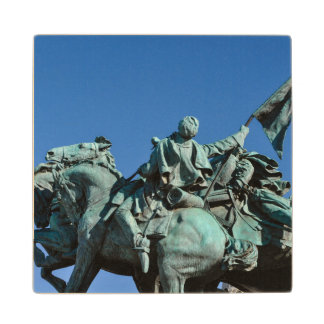 Civil War Soldier Statue in Washington DC_ Wood Coaster