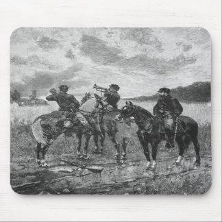 Civil War Soldiers On Horseback Mousepads