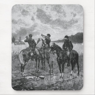 Civil War Soldiers On Horseback Mouse Pad