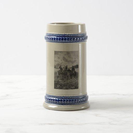 Civil War Soldiers On Horseback Coffee Mug