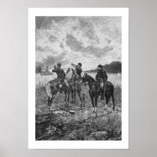 Civil War Soldiers On Horseback Print