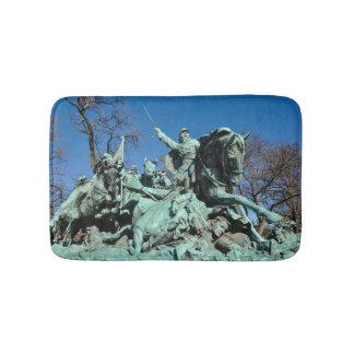 Civil War Statue in Washington DC Bath Mat