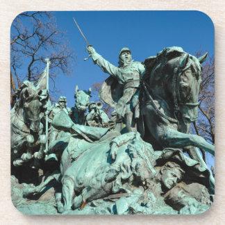 Civil War Statue in Washington DC Beverage Coaster