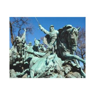 Civil War Statue in Washington DC Canvas Print