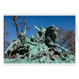 Civil War Statue in Washington DC Card