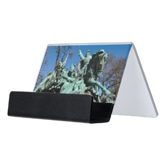 Civil War Statue in Washington DC Desk Business Card Holder