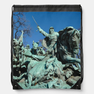 Civil War Statue in Washington DC Drawstring Bag