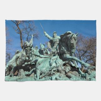 Civil War Statue in Washington DC Kitchen Towels