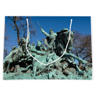 Civil War Statue in Washington DC Large Gift Bag