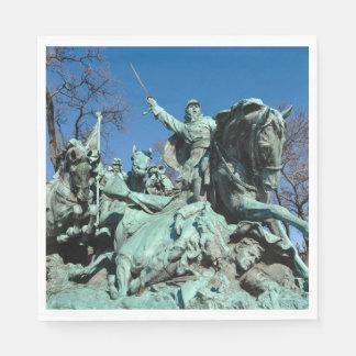 Civil War Statue in Washington DC Paper Napkin