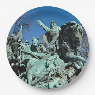 Civil War Statue in Washington DC Paper Plate