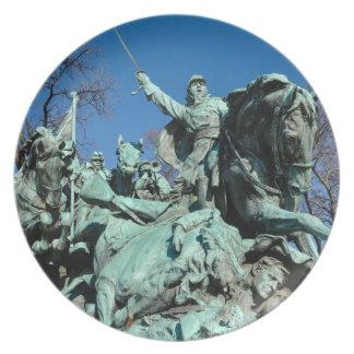 Civil War Statue in Washington DC Plate