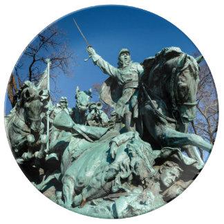 Civil War Statue in Washington DC Porcelain Plates