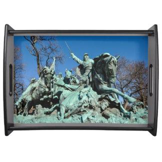Civil War Statue in Washington DC Serving Tray