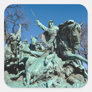 Civil War Statue in Washington DC Square Sticker