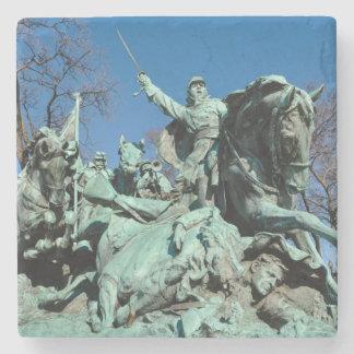 Civil War Statue in Washington DC Stone Beverage Coaster