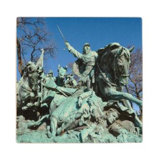 Civil War Statue in Washington DC Wood Coaster
