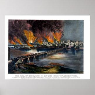 Civil war: The fall of Richmond VA Poster