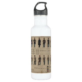 Civil War Union and Confederate Soldiers Uniforms 710 Ml Water Bottle