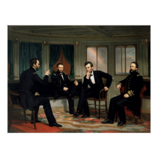 Civil War Union Leaders Painting Poster