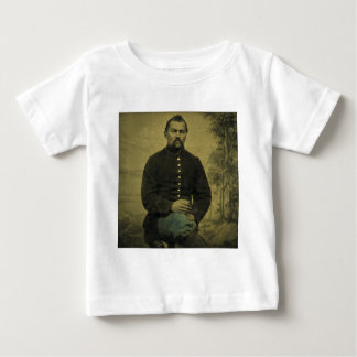 Civil War Union Soldier Tintype Baby T-Shirt