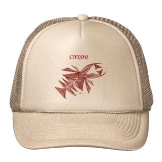 Civishi #218 Red, Abstract Sea Creature Trucker Hats