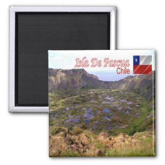 CL Chile Isla De Pascua Rano Kau Volcanic Caldera Magnet