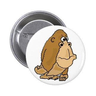 CL- Funny Gorilla Cartoon Button