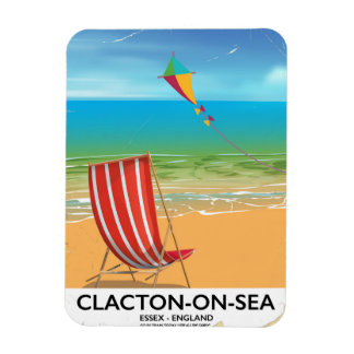 Clacton-on-sea, Essex Vintage travel poster Magnet