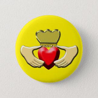 Claddagh 6 Cm Round Badge