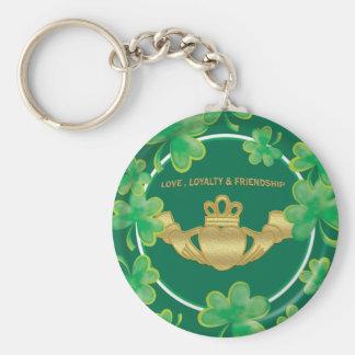 Claddagh Basic Round Button Key Ring