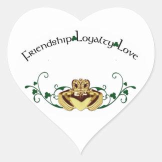 Claddagh / Claddaugh Heart Sticker