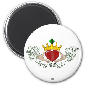 Claddagh (Full Colour) 6 Cm Round Magnet