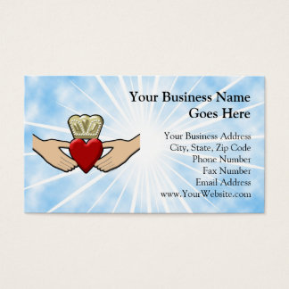 Claddagh Graphic with Red Heart Business Card