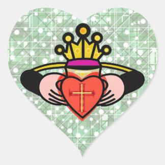 Claddagh. Heart Sticker