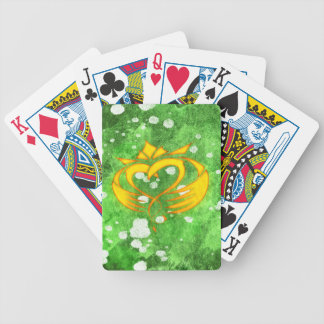 Claddagh Irish Celtic Splatter Bicycle Playing Cards