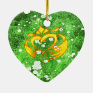 Claddagh Irish Celtic Splatter Ceramic Ornament