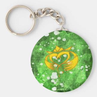 Claddagh Irish Celtic Splatter Key Ring
