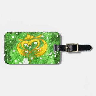 Claddagh Irish Celtic Splatter Luggage Tag