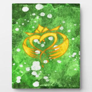 Claddagh Irish Celtic Splatter Plaque