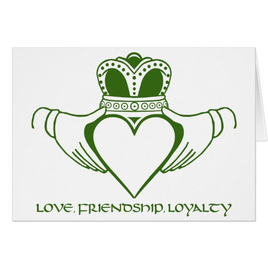 Claddagh Irish Symbol Card Customise Zazzle