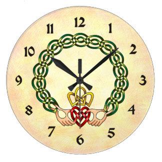 Claddagh Large Clock