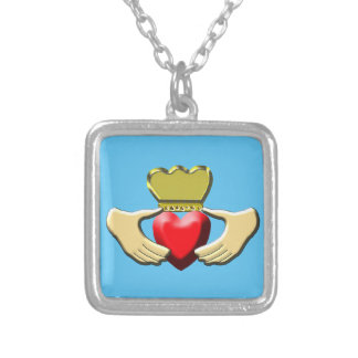 Claddagh Silver Plated Necklace