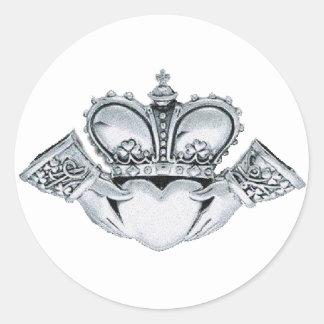 Claddagh Wedding Invitations Envelope Seals Round Sticker
