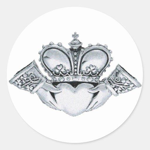 Claddagh Wedding Invitations Envelope Seals Stickers