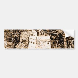 Claes Jansz Visscher Globe Theatre Engraving Bumper Stickers